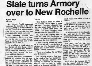 New Rochelle Armory - Gov Pataki approves public use