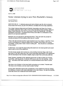Veterans trying to save New Rochelle Armory 1of 2
