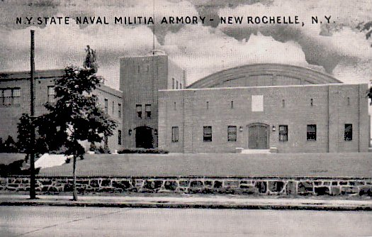 Post Card of the New Rochelle Armory ca.1930's