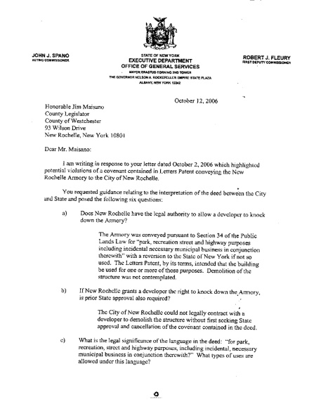 NYS Office of General Services Description of Deed Covenant page 1