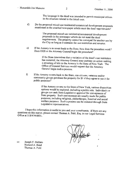 NYS Office of General Services Description of Deed Covenant page 2