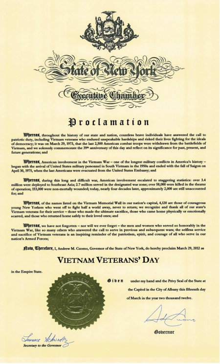 Vietnam Veterans' Day Proclamation