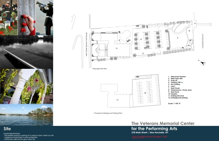Site Plan for Armory Center